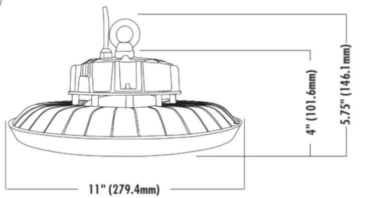 Picture of LED UFO High Bay Light, 200 watt / 29000 lumen