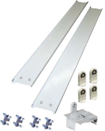 """Picture of 8' Fluorescent Retrofit Kit hardware for 4.25"""" channel."""