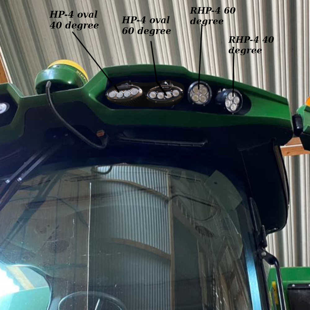 RHP-4 and Oval HP-4 mounted on combine